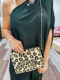 Leopard Mini Beaded Purse