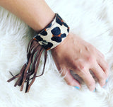 Light Tan Leopard Cuff