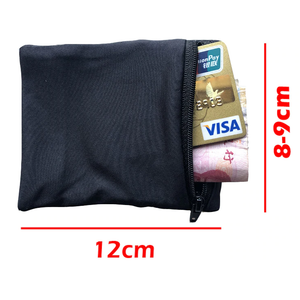 Handy wrist wallet with zipper