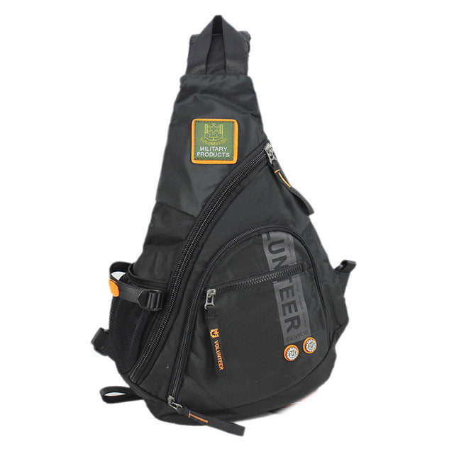 Multi-function Oxford One-shoulder Cross-chest Assault Backpack
