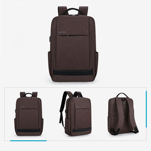 Student waterproof 15 inch computer backpack with USB charging port