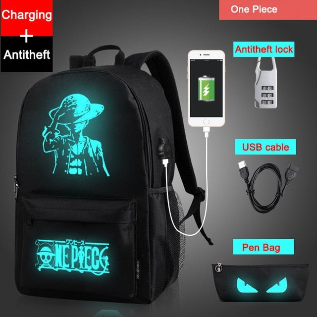 Creative Fluorescent Backpack with USB charging port