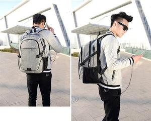 Multifunctional Travel Laptop Backpack with USB charging port