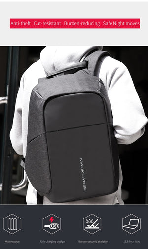 MR Anti-theft USB Charging Backpack for 15 inch laptop