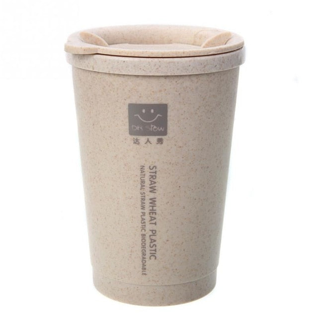 280ml Spill proof double-wall wheat fiber cup