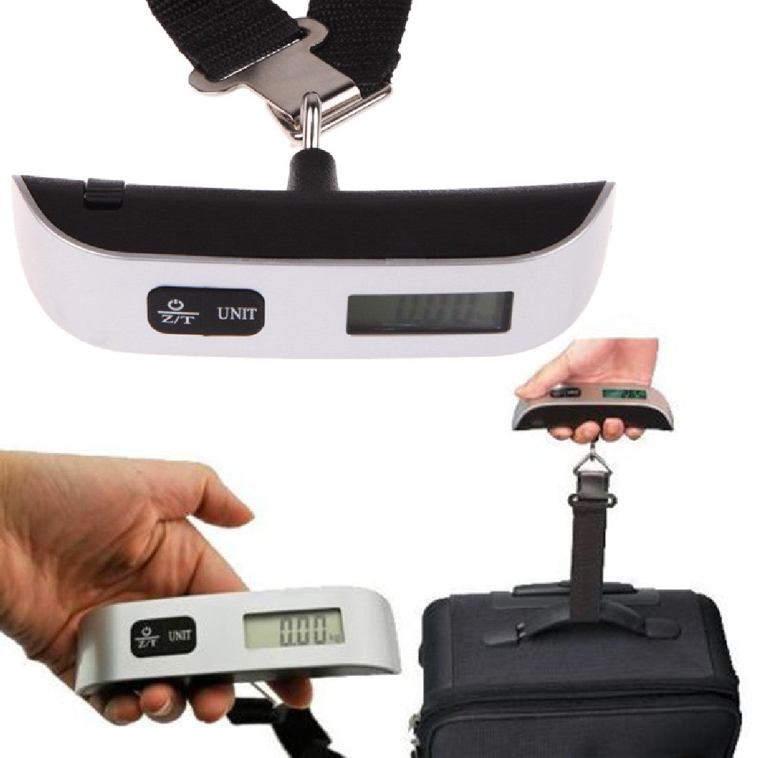 110lb Belt Scale with LCD Screen and Hook for Luggage