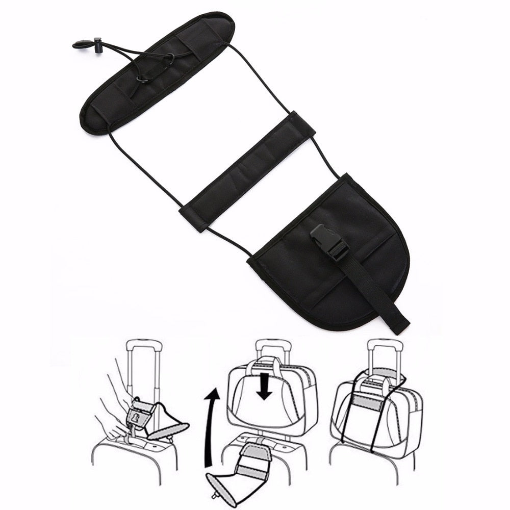 Elastic Telescopic Luggage Strap for Travel Bags