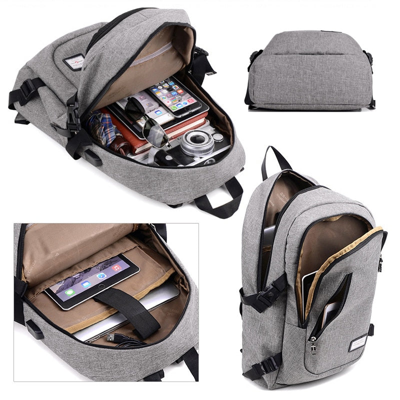 Business and Travel Laptop Backpack with USB Charging Port