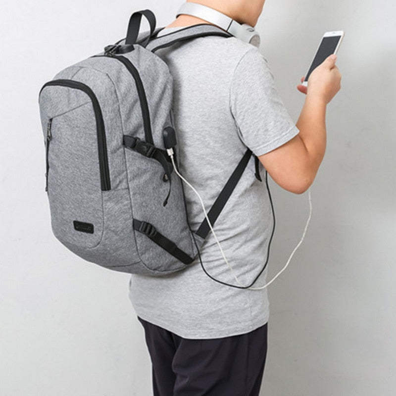 Smart 17 inches Laptop Oxford Backpack with USB charging port