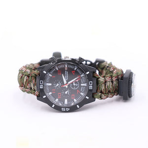 5 in 1 Multi-function Survival Paracord Bracelet Watch