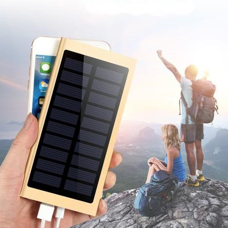 30000mah USB PowerBank with Solar Panel and Flashlight