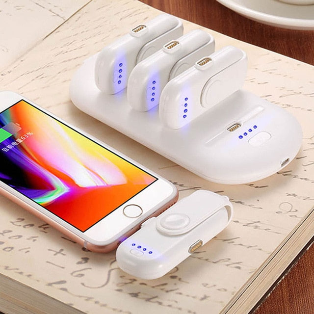 4 SMARTPHONE MAGNETIC POWERBANKS OF 1000MAH WITH CHARGING DOCK