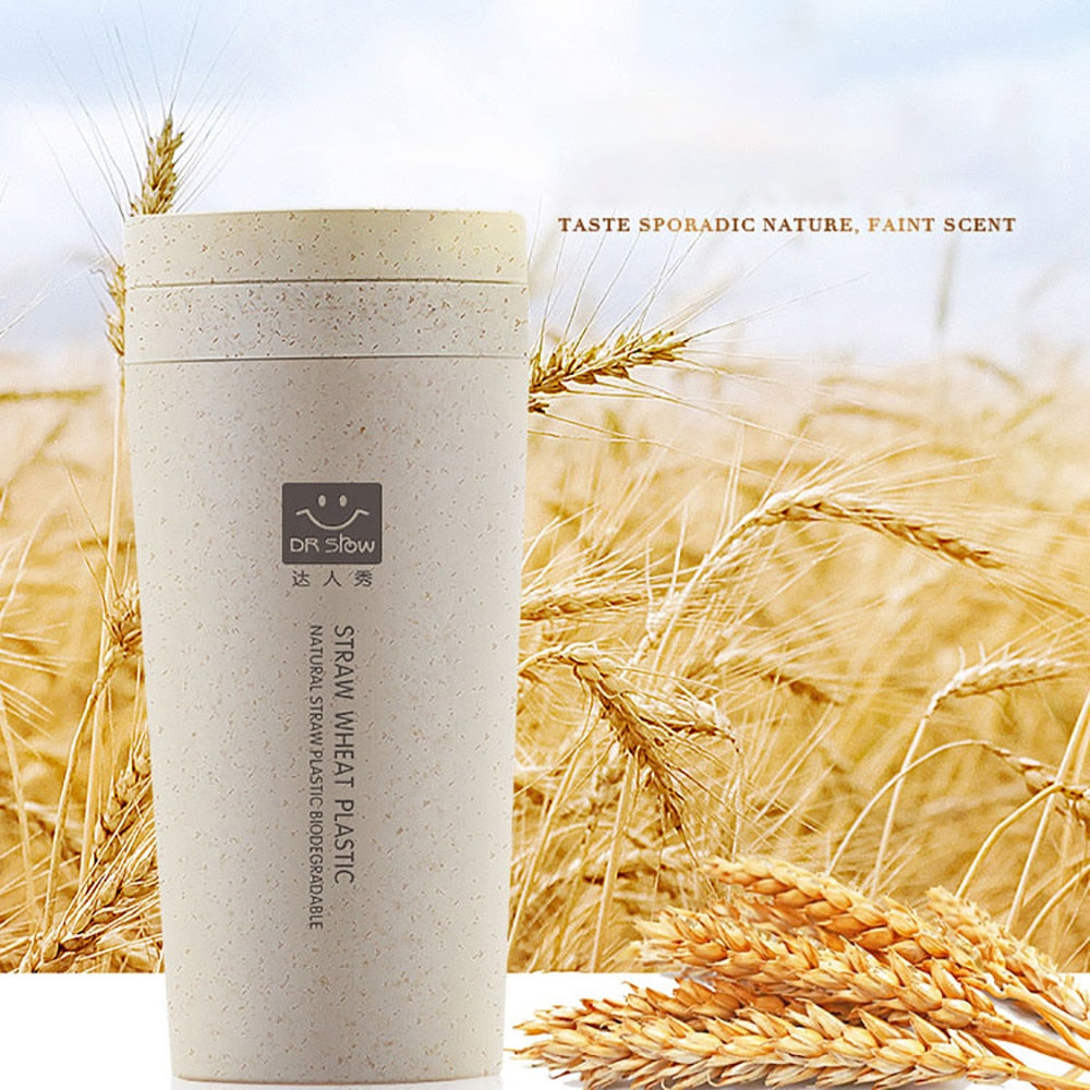 Spill proof double-wall Wheat Straw Bottle