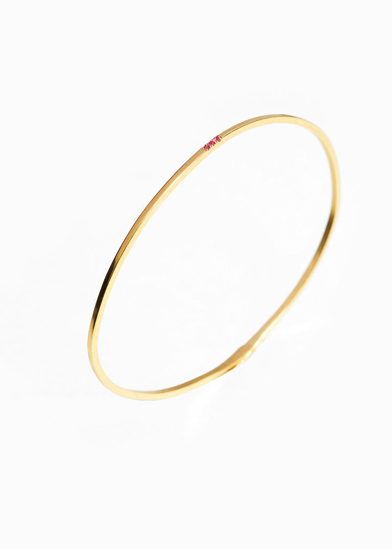 Bracelet Arc en Ciel 3 Pierres rose