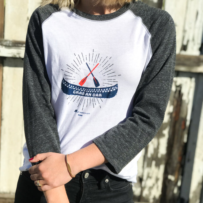 Grab an Oar Baseball Tee