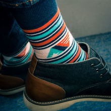 Load image into Gallery viewer, Let America Vote Striped Socks