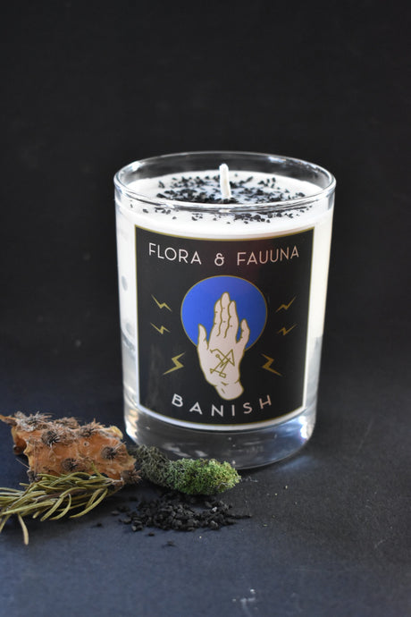 """Banish""- Sigil Magick Candle - Limited Edition"