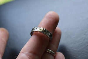 Sterling and 14kt gold stacking ring Sz 6.5