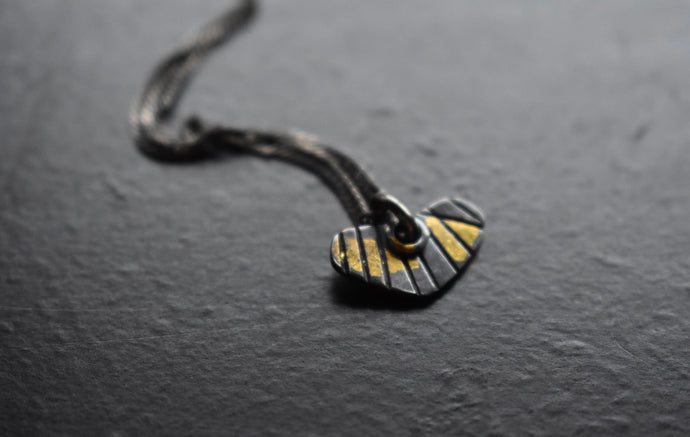 Crooked Little Heart - silver and 22kt gold