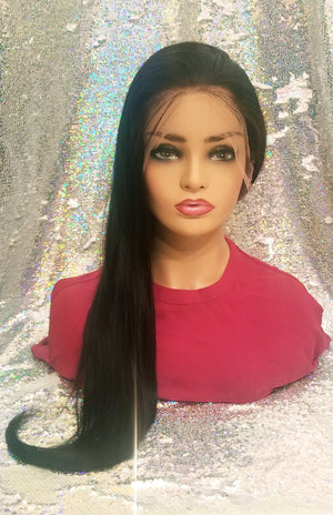 Lace Front Silky Straight Wig - 150 Density
