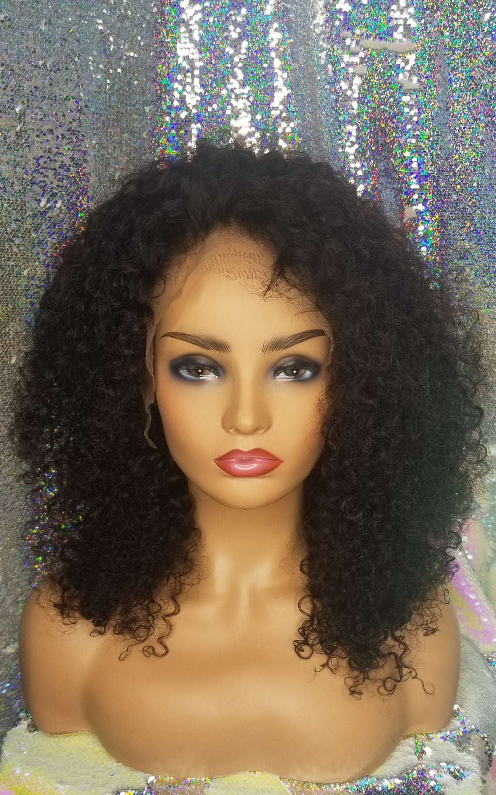 Brazilian Kinky Curly Lace Front Wig