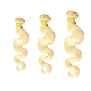 Three Bundles Virgin Brazilian Blonde Body Wave Hair Extensions Deal