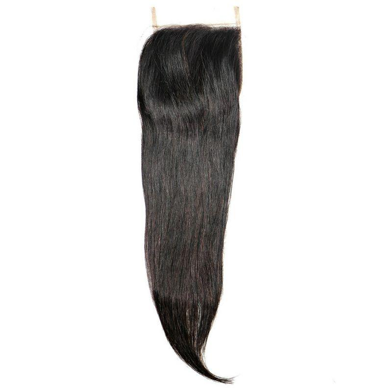 100% Virgin Brazilian Silky Straight Closure