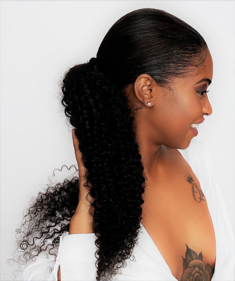 Three Virgin Brazilian Kinky Curly Hair Extensions