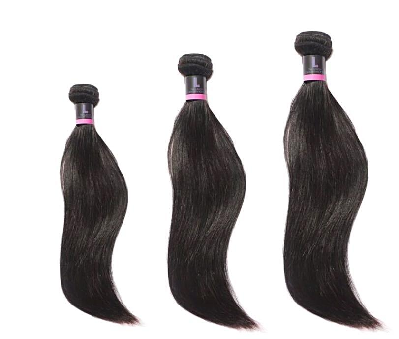 Three Virgin Brazilian Silky Straight Extensions Deal