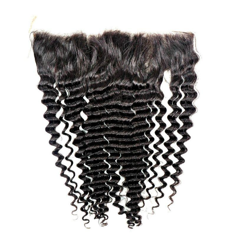 100% Virgin Hair Brazilian Deep Wave Lace Frontal