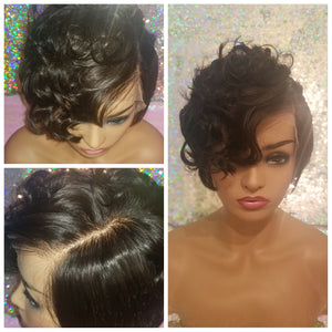 "Halle - 8"" Short Frontal Pixie Wig"