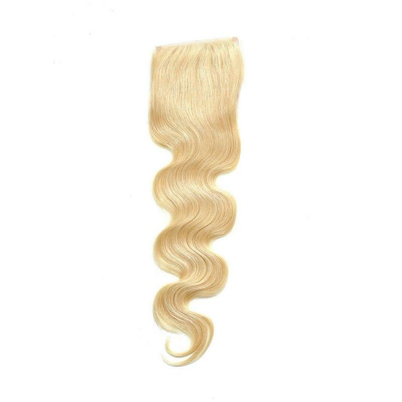 100% Virgin Brazilian Russian Blonde Body Wave Closure