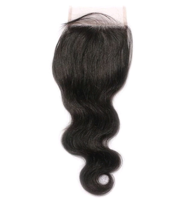 100% Human Hair Malaysian Body Wave Closure