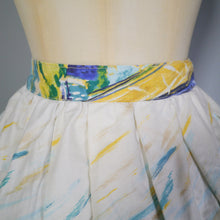Load image into Gallery viewer, 50s NOVELTY PAINTERLY SAIL BOAT NAUTICAL PRINT FULL SKIRT - 29""