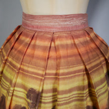 Load image into Gallery viewer, 50s MARAMODE NOVELTY SCENIC SUNSET LANDSCAPE SKIRT - 26""