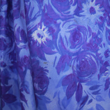 Load image into Gallery viewer, 50s SAMBO FASHIONS SUN DRESS AND BOLERO IN BLUE AND PURPLE FLORAL COTTON - XS-S