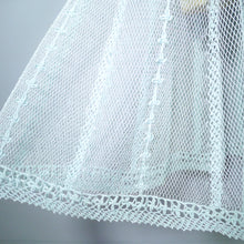 Load image into Gallery viewer, PASTEL GREEN SEE THROUGH CROCHET DRESS WITH FULL SKIRT - S