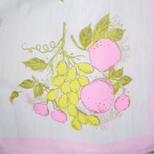 Load image into Gallery viewer, L'AIGLON PASTEL NOVELTY FRUIT PRINT 50s 60s SEMI SHEER DRESS - S