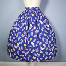 Load image into Gallery viewer, 50s NOVELTY MATCHBOX AND MATCHSTICK PRINT SKIRT - 24""