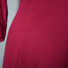 Load image into Gallery viewer, DARK REDDISH PINK COLOURED WOOL CREPE FITTED DRESS BY MARCUSA - M