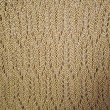 Load image into Gallery viewer, AUTUMNAL POINTELLE LACE KNIT 70s does 40s V-NECK JUMPER - S-M