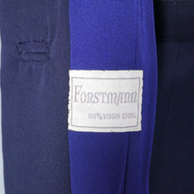 Load image into Gallery viewer, NAVY 40s FORSTMANN WOOL TAILORED 2 PIECE SKIRT SUIT - M
