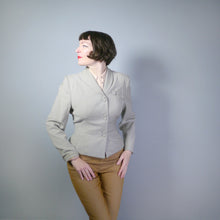 Load image into Gallery viewer, 40s LIGHT GREY FITTED JACKET WITH DECORATIVE DETAILING BY LEITER OF DALLAS - M-L