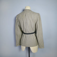 Load image into Gallery viewer, 40s VINTAGE YELLOW AND BLACK CHECK AUTUMNAL JACKET WITH BELT - XS-S