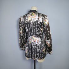 Load image into Gallery viewer, 70s TUXEDO NOVELTY PRINT ART DECO STYLE GLAM JACKET - POSSIBLY MISS MOUSE - XS