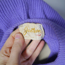 Load image into Gallery viewer, 50s SWEATER GIRL PERFECTION CROPPED JANTZEN LAVENDER RIBBED JUMPER - XS-S