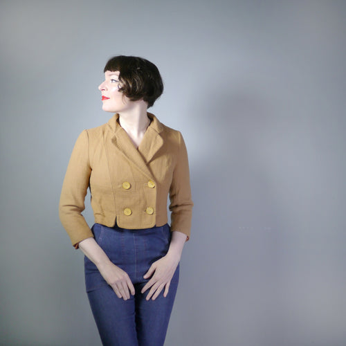 CROPPED 50s LIGHT BROWN JACKET BY NEUSTETERS - S-M