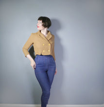 Load image into Gallery viewer, CROPPED 50s LIGHT BROWN JACKET BY NEUSTETERS - S-M