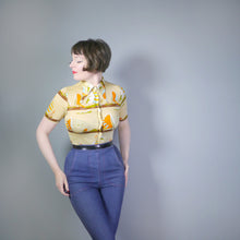 Load image into Gallery viewer, 70s NOVELTY SAILBOAT SUMMER STRETCH JERSEY VINTAGE SHIRT - XS-S