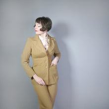 Load image into Gallery viewer, 70s LIGHT BROWN 2 PIECE HIGH WAISTED TROUSER MOD / DANDY SUIT BY TREVIRA - S